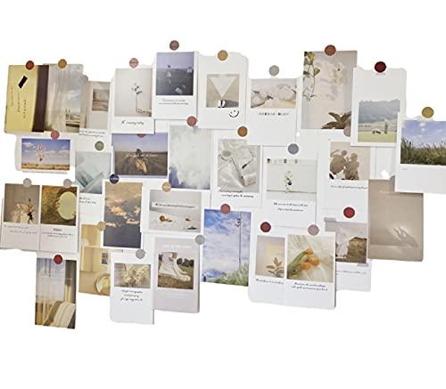 [ドナリー]おしゃれで可愛い ポストカード 30枚セット はがきサイズ 北欧 韓国 海外 インテリア 雑貨 ミニポスター (ナチュラル)