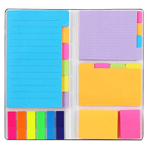 Sticky Notes Set Hommie Colored Divider SelfStick Notes Pads Bundle Prioritize with Color Coding 60 Ruled 37x6 48 Dotted 37x3 48 Blank 3x37 48 Per Rectangular 25 Per PET Color