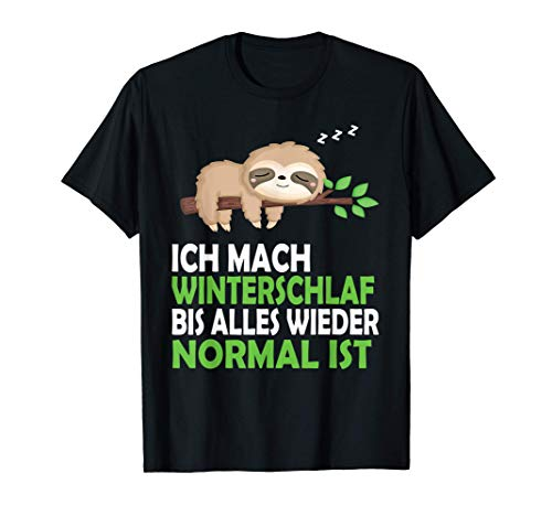 Faultier Nachthemd Schlafshirt Pyjama Schlafanzug Geschenk T-Shirt