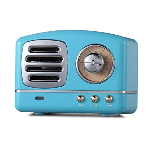 Portable Bluetooth Retro Speaker, Wireless Mini Vintage Speaker with Rich Bass, Stereo, Built-in Mic...