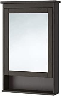 IKEA Mirror Cabinet with 2 Doors, Black-Brown Stain 40 1/2x6 1/4x38 5/8