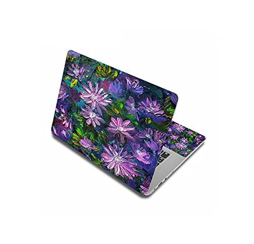 Peach-girl - Adhesivo decorativo para ordenador portátil, diseño de flor universal 15.6 17 17.3 12