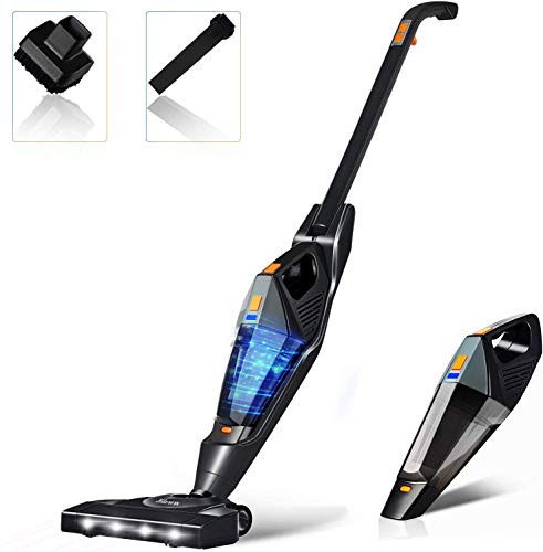 Cordless Vacuum, Hikeren Stick Vacuum Cleaner, 12KPa Lightweight 2 in 1 Stick Handheld Vacuum with...
