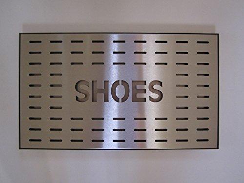 Unbekannt Schuhabtropfschale Schuhablage Schuhschale Schuhwanne Schuhtablett Schuhtasse aus Edelstahl für 2 Paar Schuhe 48 x 28 cm