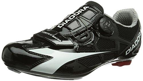 Diadora Vortex Racer - Calzado de ciclismo unisex, color negro (negro/blanco 6410), talla 42