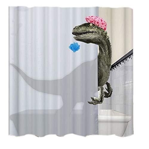 Ctzrzyt Sch?Ne Bade Dinosaurier Druck Duschvorhang Wasserdicht Bad Vorhang Bad Dusche Zubeh?R Decor Bad Vorhang 180X200 cm