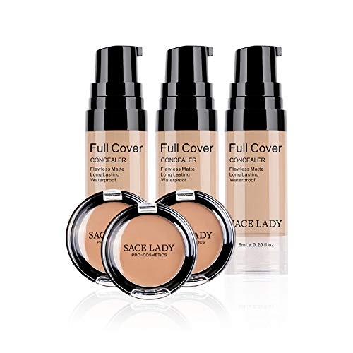 Smooth Long Lasting Concealer Full Coverage Waterproof Matte Liquid Cream Corrector Makeup Conceals Blemishes Dark Spot Eye Circles Face Flawless Finish Cosmetic