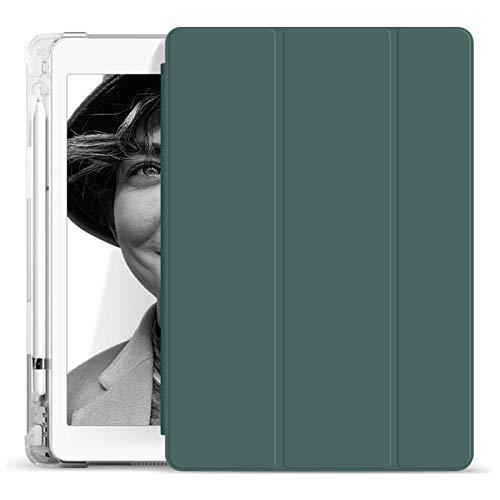 YYLKKB para iPad 7 8 Funda Protectora de 10,2 Pulgadas para iPad Pro 9.7 Pulgadas para Air 3 10.5 Tablet Funda Soporte AUTOMÁTICO Air Air 4 10.9 con Titular-Verde Oscuro_iPad Aire 4 10.9 Pulgadas