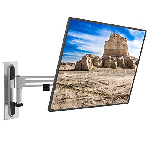 WALI Lockable RV TV Wall Mount Full Motion Anti-Vibration Bracket Articulating Detachable Arm for Most 13-43 inch LED, LCD Flat Screen Display, up to 33lbs (1343LK), Gray
