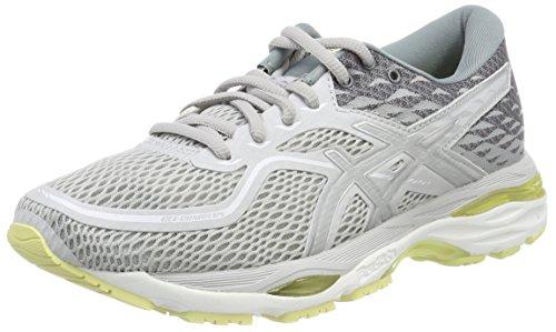 Asics Gel-Cumulus 19, Zapatillas de Running para Mujer, Gris (Bleu Glacier Grey/Silver/Lime Light 9693), 37 EU