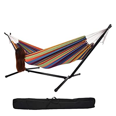 Amazon - Save 70%: Double Hammock with Steel Stand for 2 People,8.5ft Camping Ha…