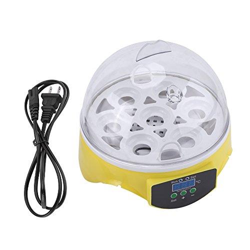 Yosoo Mini Digital Incubator 7 Eggs Egg Incubator Automatic Temperature Control Incubator for Birds Easy Operation Micro Incubation Duck Goose Quail Chicken etc.
