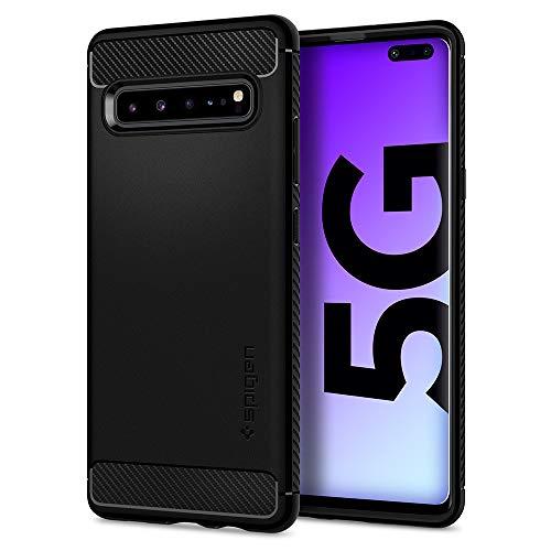 Spigen Rugged Armor Hülle Kompatibel mit Samsung Galaxy S10 5G -Matte Black