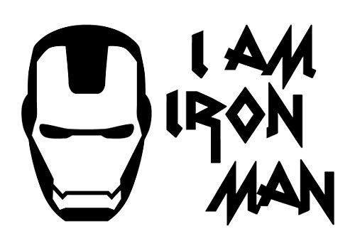 Creative Concepts Ideas I Am Iron Man CCI Decal Vinyl Sticker|Cars Trucks Vans Walls Laptop|Black|7.5 x 5.0 in|CCI2490