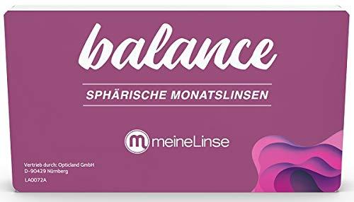 meineLinse Balance sphärische Monatslinse 3 Stück (ehemals Oculsoft) (-7.00, 8.6, 14.00, 3)
