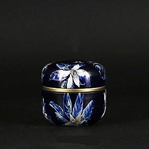 UIYU Boîte à thé avec Couvercle en Forme de Fleur Style Chinois Vintage avec Couvercle et Mini boîtes de Rangement en métal Multifonction avec Bouchon Rond