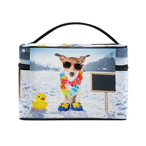 Bolsa de maquillaje de viaje para perros de RELEESSS, bolsa de cosméticos grande organizadora, neceser de maquillaje para mujeres y niñas