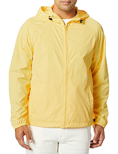 J.Crew Mercantile Herren Packable Rain Jacket Anorak, Firefly Yellow, Medium