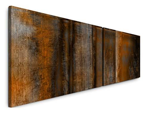 Paul Sinus Art Rostig 180x50cm - 2 Wandbilder je 50x90cm - Kunstdrucke - Wandbild - Leinwandbilder fertig auf Rahmen