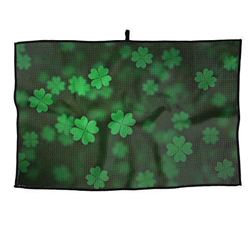 Irish Clover Mikrofaser-Golf-Handtuch, Waffelmuster, atmungsaktiv, für Training, Yoga, Golf, Reisen, Fitnessstudio