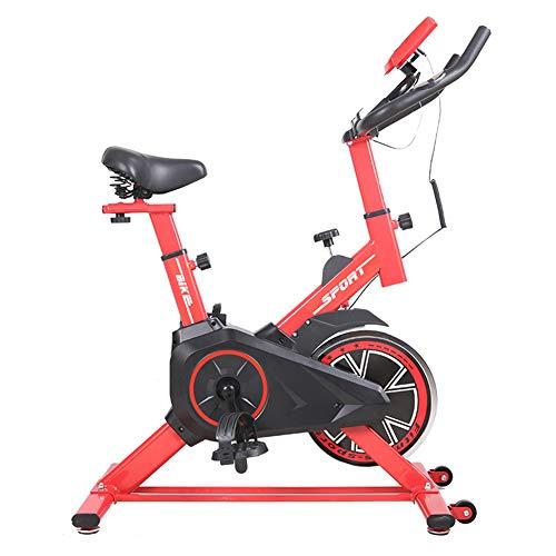 Lcyy-Bike Allenatori di Bicicletta Resistenza Magnetica 5 kg Volano Cardio Workout con Display Multifunzionale E Porta Tablet Manubrio Regolabile E Altezza Sedile