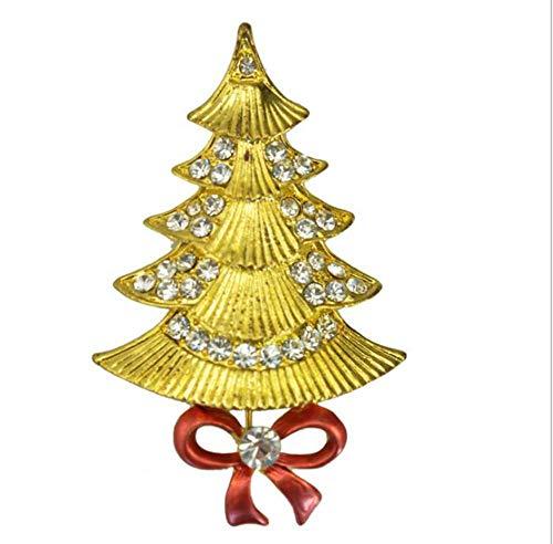 Leeyyo Weihnachtsbrosche für Damen, Weihnachtsmotiv, geeignet für alle Arten von Partys und Alltag, 1 Stück, 2, 1.5*2.6inch