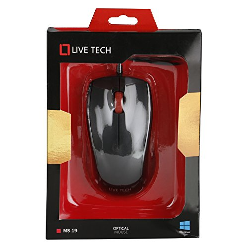 Live Tech MS-19 USB Wired Black Color Optical Mouse
