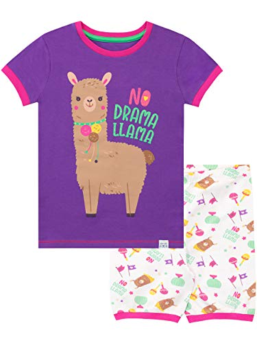 Harry Bear Mädchen Lama Schlafanzug Kurz Violett 122