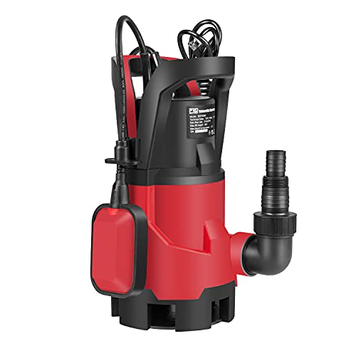 Sump Pump ,1HP 3700GPH Submersible Prostormer , Electric Water Pump with Automatic Float Switch for Pool Draining Hot Tub Flood Drain