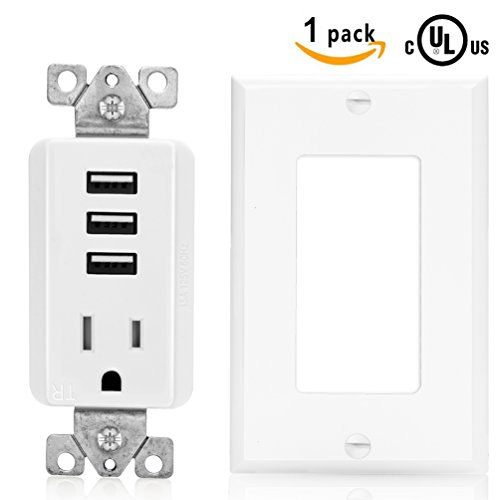 SenQ USB Outputs Power Sockets Station Plug Outlet USB Wall Outlets