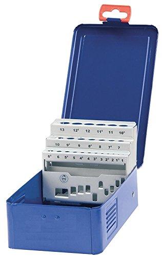 Bohrcraft Metall-Kassette M 13, leer, 25-teilig für HSS-Spiralbohrer 338, 1 Stück, dunkelblau, 00801520025