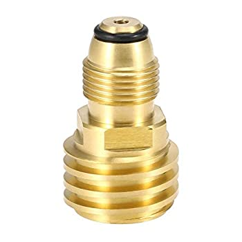 Fachmann Propane Tank Refill Adapter Converts POL LP Tank Service Valve to QCC1 / Type1 Brass Solid Universal Fit POL to QCC1
