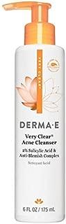 DERMA E Acne Deep Pore Acne Cleansing Wash with Salicylic Acid, Tree Tree Oil, Chamomile, 6 oz