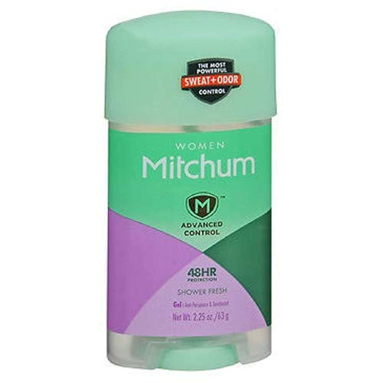 アジャ涙まどろみのあるMitchum Deodorant Womens Gel Shower Fresh 2.25oz (3 Pack) by Mitchum For Women