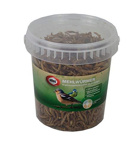 Elles Mehlwürmer - Ergänzungsfuttermittel für Wildvögel 125g - Vogelfutter