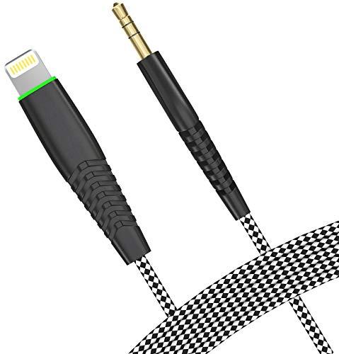 Predator+ Audio Klinken Kabel 3,5 mm | für iPhone 7/7 Plus/8/8 Plus/X/6/6S/6 Plus/iPod geeignet | AUX Kabel Adapter | KFZ Auto HiFi-Anlagen | Ausgezeichnete Klangqualität