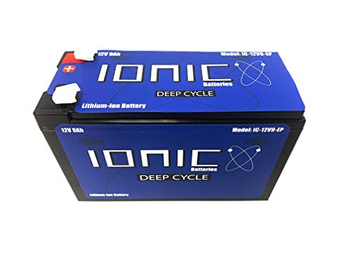 Lithium Ion Deep Cycle Battery - Ionic 12V9-EP - 12V 9Ah - LiFePO4 with BMS - 5 Year Warranty