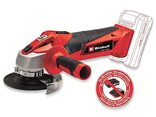 Einhell 4431130 TC-AG 18/115 Li Smerigliatrice Angolare Batteria, 18 V, Rosso, Nero, 115 mm
