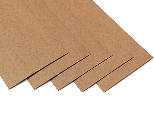 Ollexo SnapPap waschbares Papier Snap Pap (Set aus 5 Bögen) (10x21 cm, Hellbraun)