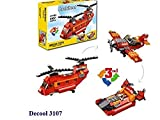 FunBlast Decool 3107 Architect Series 3 in 1 – Fighter Helicopter, Fighter Jet