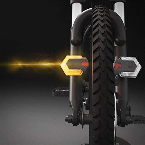 Deeabo Fahrrad Rücklicht, Fahrrad Blinker Sicherheits Warnleuchte Vorne und Hinten mit Fernbedienung, USB Ladefunktion Wasserdichtes Fahrrad Rücklicht für das Radfahren im Freien, Ultrahelle 85LM LED