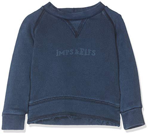 Imps & Elfs Pullover Long Sleeve Pull, Bleu (Indigo Blue Dyed P360), 74 Mixte bébé
