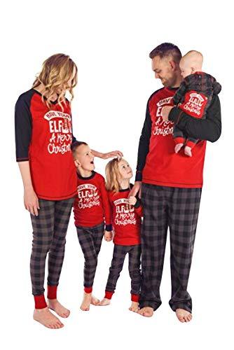 Pijama Familiar de Navidad Invierno Dos Piezas Pantalon y Camiseta Conjunto Mama Papa y Bebe Ropa...