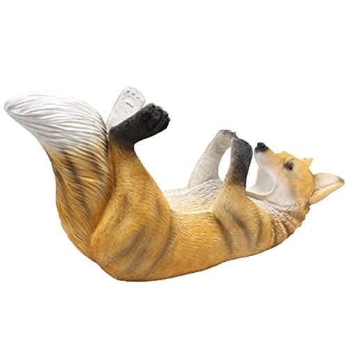 Estantería de Vino Resina Creativa Wolf Botella de Vino Estatuillas Figuras Europeo Creativo Wolf Wine Rack Ornament Animal Wine Rack Home Bar Decoración (Color : As Shown)