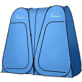 WolfWise 2 Room Pop Up Shower Privacy Tent Dressing Room Sun...