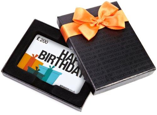 Amazon.co.uk Gift Card - In a Gift Box - £200 (Happy Birthday)