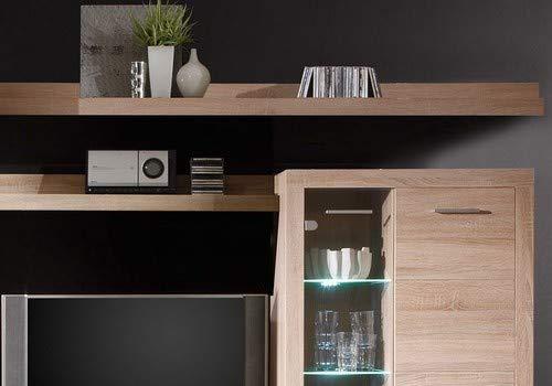 HBZ Wohnwand CANCAN 5 in Eiche Sonoma Design inklusive Beleuchtung - 2