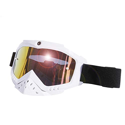 1080p HD video snowboard zonnebril, 142 ° groothoek, verwisselbare UV400 zonnebril in 3 kleuren, HD-sportcamera, USB-kabel, TF-kaart, Full Hd Dvr recorder, goggles, tweekleurige anti-fog spiegel.