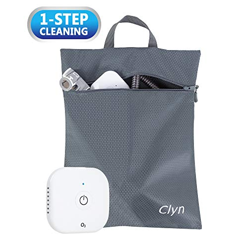 Clyn O3N Ultra-Portable CPAP Cleaner and Sanitizer with Large Smell-Proof Sanitizing Bag, One-Step...