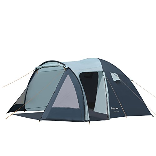 KingCamp Camping Tent 3-Person 3-Season Sun Shelter Water Resistant Portable Room with Porch for Backyards, Patios, and Camping